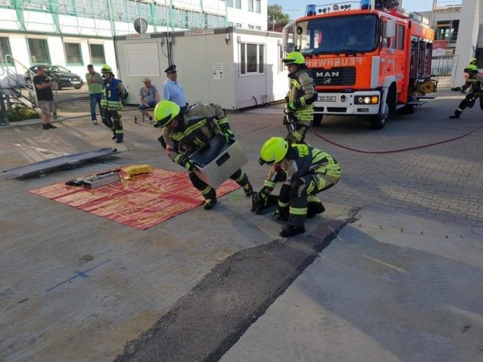 Leistungsprüfung Feuerwehr Günzburg THL August 2019 1