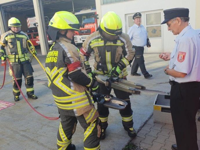Leistungsprüfung Feuerwehr Günzburg THL August 2019 2