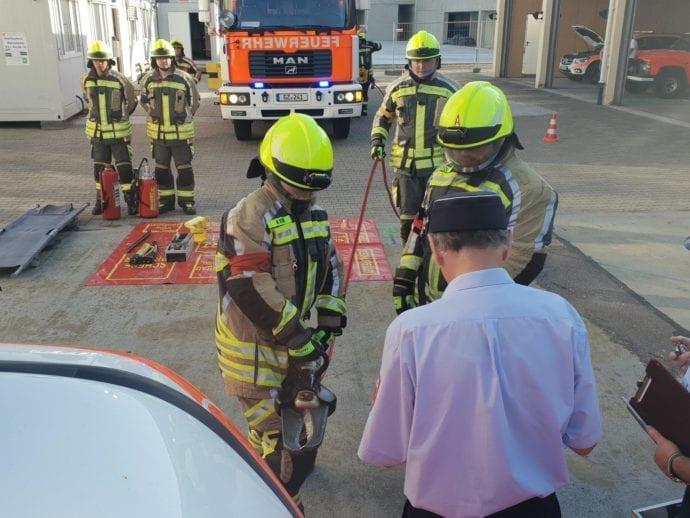 Leistungsprüfung Feuerwehr Günzburg THL August 2019 3