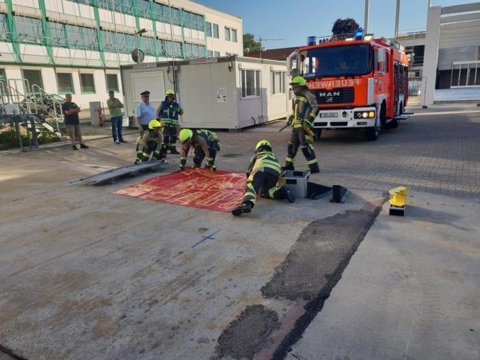 Leistungsprüfung Feuerwehr Günzburg THL August 2019