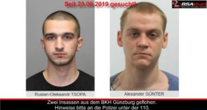 BKH Günzburg geflüchtet gesucht