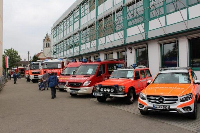 Fahrzeugaustellung Gartenfest 2019 Feuerwehr Günzburg