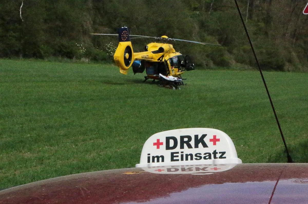 DRK und Rettungshubschrauber
