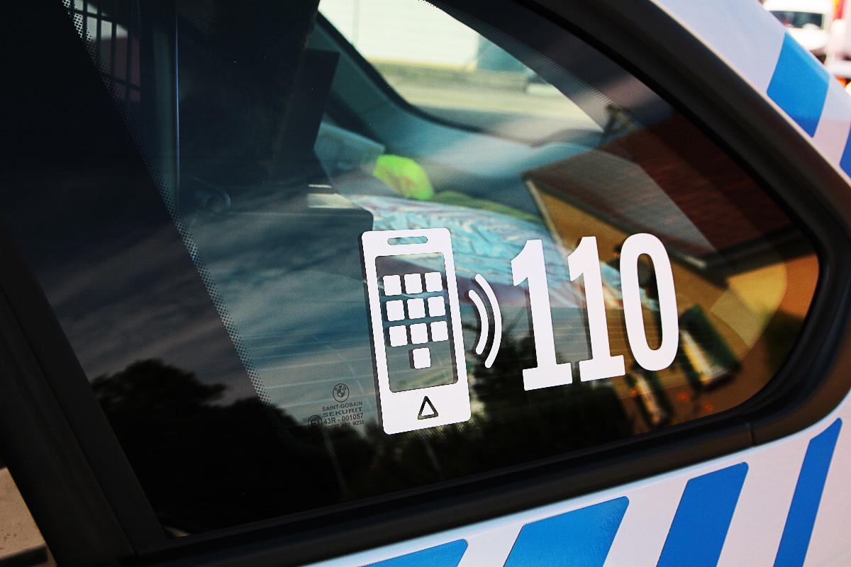Polizeifahrzeug Nummer 110