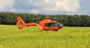 Rettungshubschrauber orange