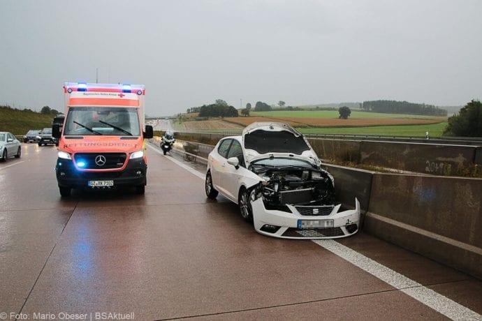 Unfall A8 Burgau Aquaplaning 27092019 1