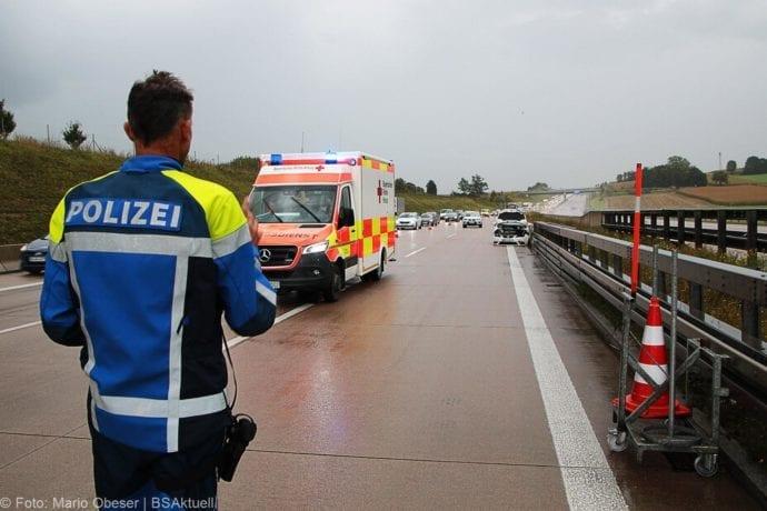 Unfall A8 Burgau Aquaplaning 27092019 3