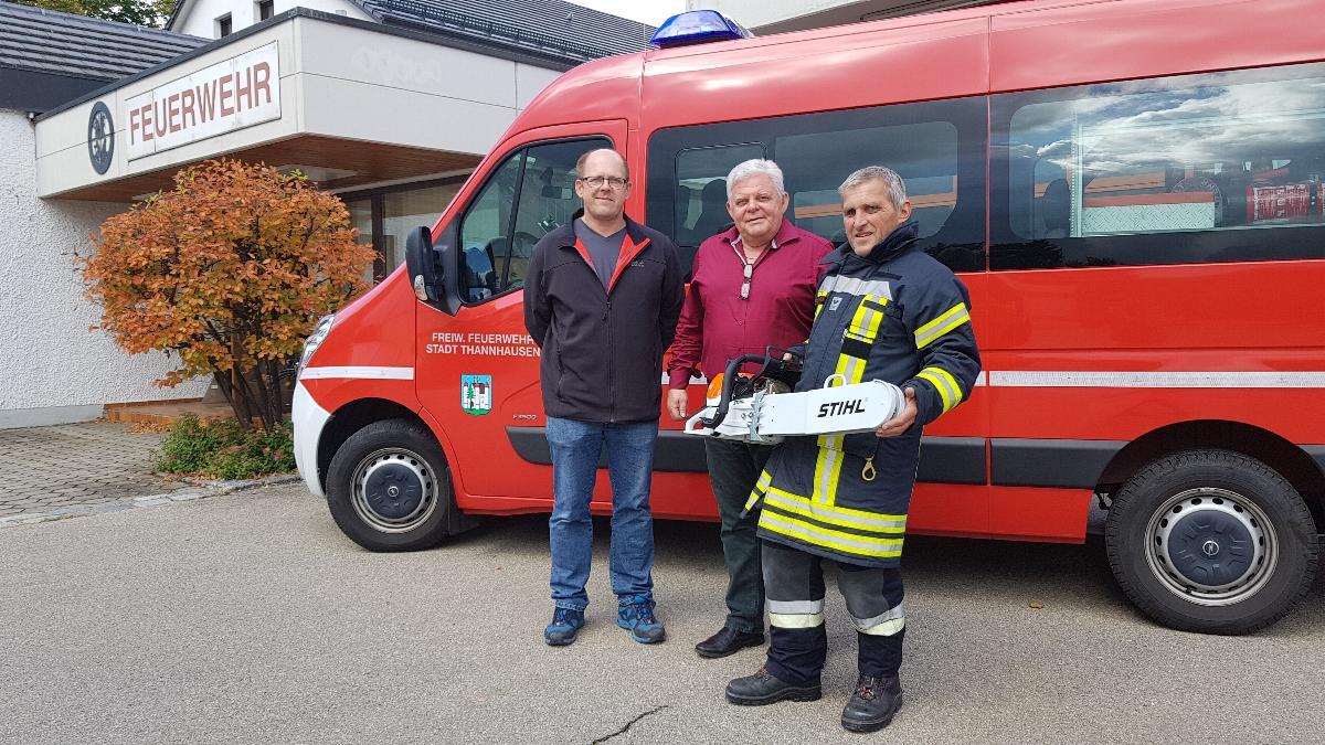 Feuerwehr Thannhausen Rettungssäge Spende