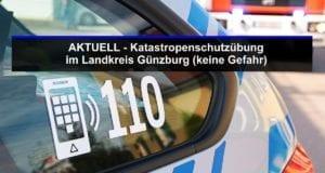 Polizeifahrzeug-mit-Feuerwehrauto Übung