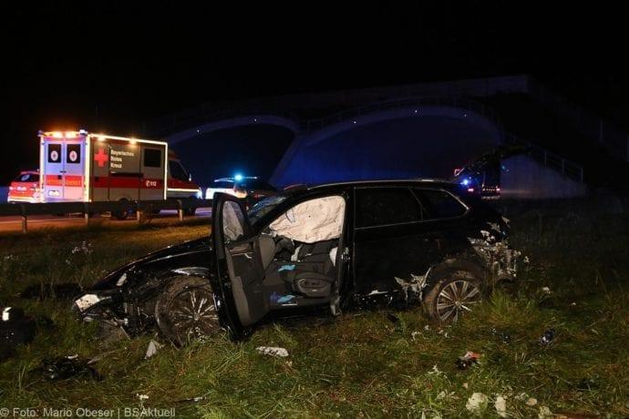 Unfall A8 Burgau-Zusmarshausen SUV überschlagen 07102019 11