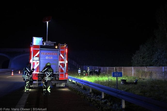 Unfall A8 Burgau-Zusmarshausen SUV überschlagen 07102019 21