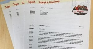 Günzburg Jugendbefragung Brief