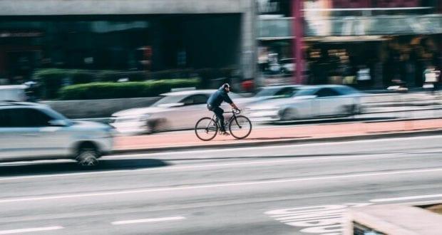 Radfahrer Fahrrad Straße