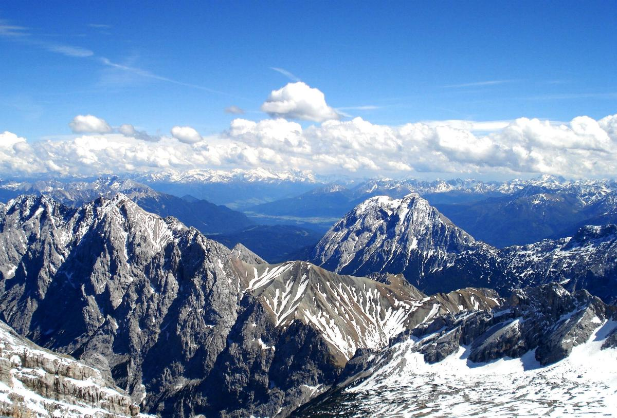 Zugspitze Blick Berge