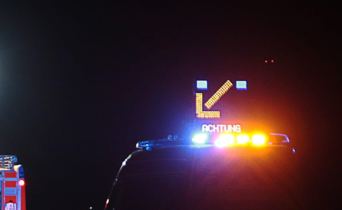 Absicherung Feuerwehrfahrzeug