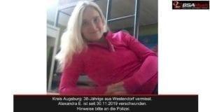 Alexandra Eder Westendorf Augsburg vermisst