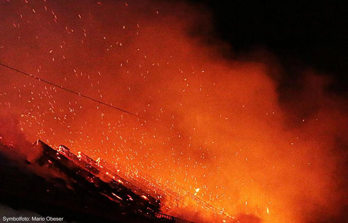 Brand Flammen Haus