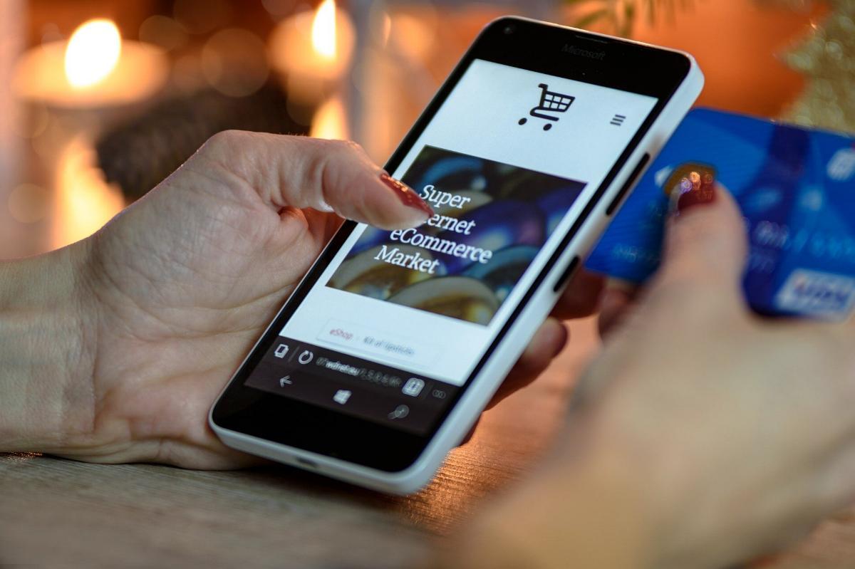 Handy Shop Einkauf