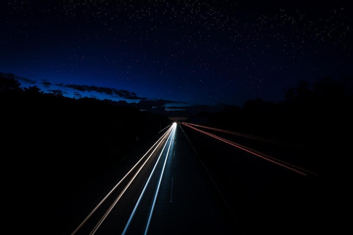 Licht Autobahn Lichtspur