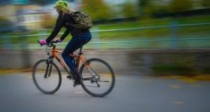 Radfahrerin Fahrrad