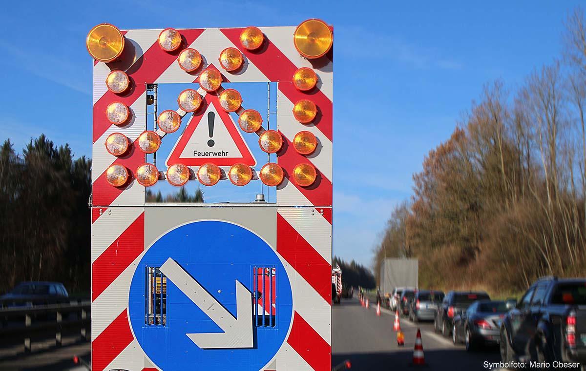 Sicherungsanhaenger Autobahn