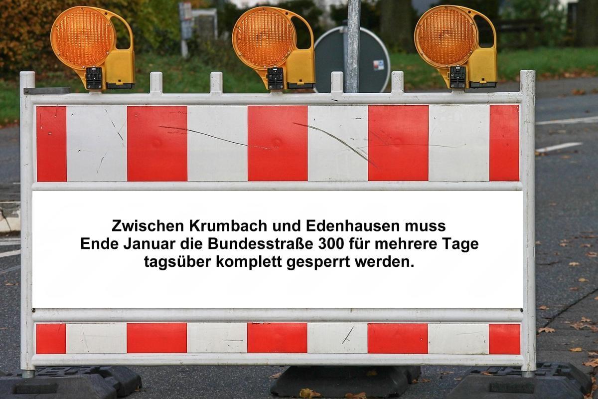 B300 Krumbach gesperrt