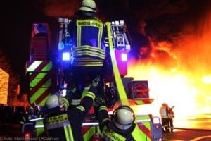 Millionenschaden Brand Lagerhalle Lauingen