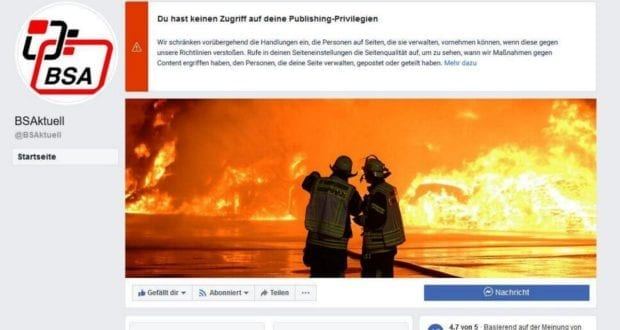 Facebook eingeschränkt