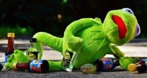 Frosch betrunken Alkohol