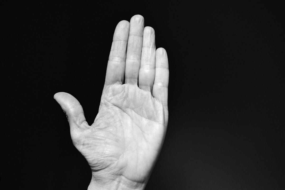 Hand Schlagen Ohrfeige
