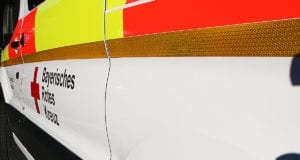 Rettungswagen seitlich BRK