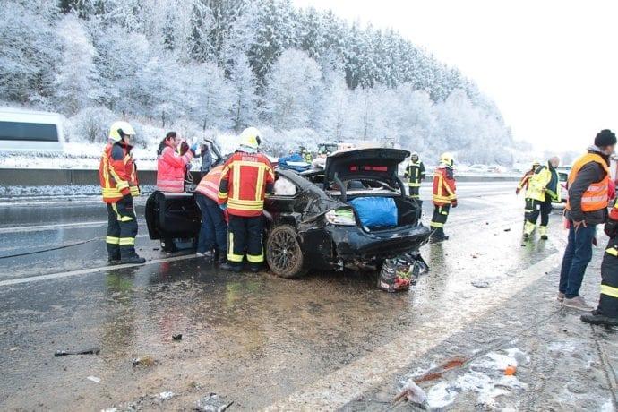 Unfall A8 Burgau – Guenzburg MAssenkarambolage 190120 15