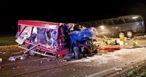 Unfall Reisebus Kleinlaster Aufhausen Kuenigsbronn Heidenheim