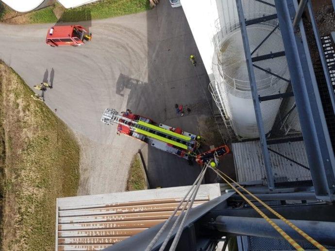 Feuerwehr Ichenhausen Absturzsicherung Lehrgang 3