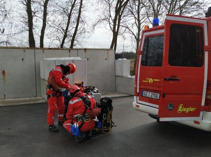 Feuerwehr Ichenhausen Absturzsicherung Lehrgang 7