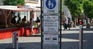 Fußgaengerzone Marktplatz Sommerregelung