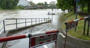 Hochwasser Schild Warnung