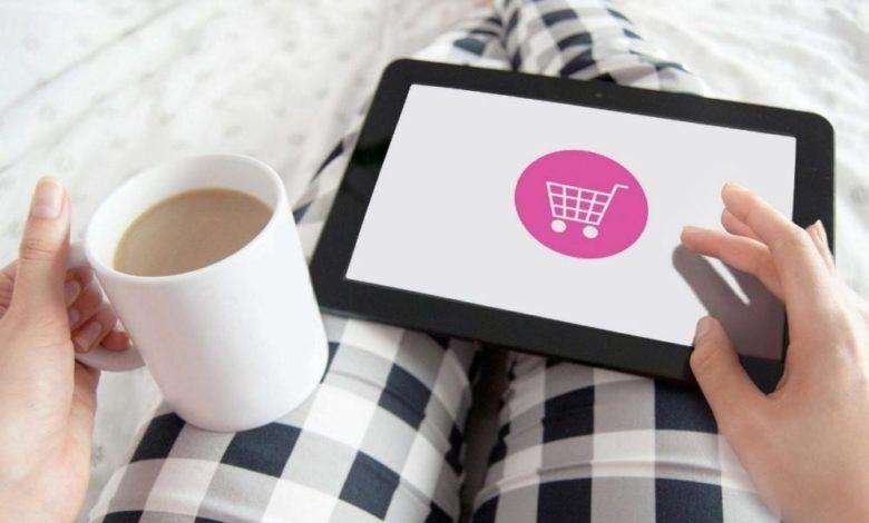 Shopping Online-Einkauf Computer