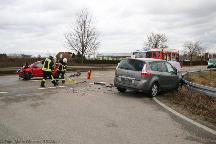 Unfall Gundelfingen-Medlinger Straße B492 14022020 1
