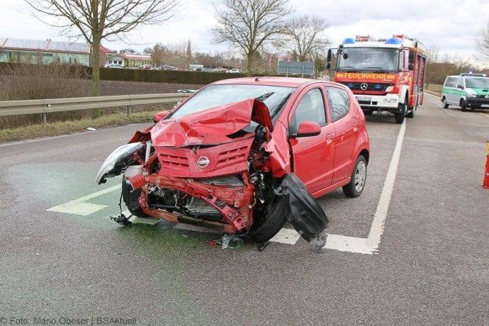 Unfall Gundelfingen-Medlinger Straße B492 14022020 2
