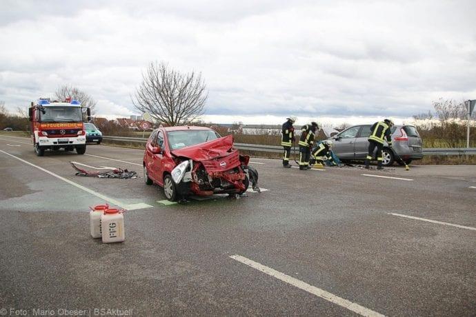 Unfall Gundelfingen-Medlinger Straße B492 14022020 3
