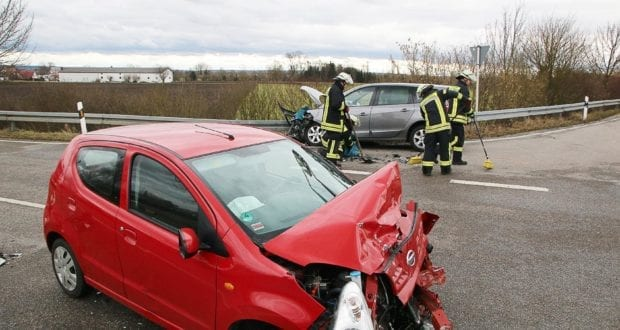Unfall Gundelfingen-Medlinger Straße B492 14022020 4