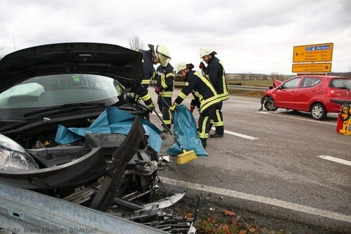 Unfall Gundelfingen-Medlinger Straße B492 14022020 7
