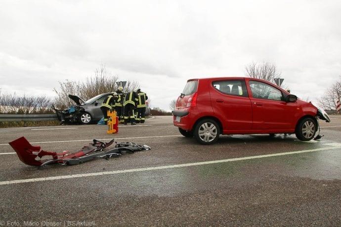 Unfall Gundelfingen-Medlinger Straße B492 14022020 8