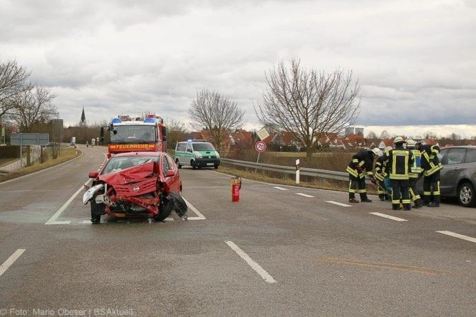 Unfall Gundelfingen-Medlinger Straße B492 14022020 9