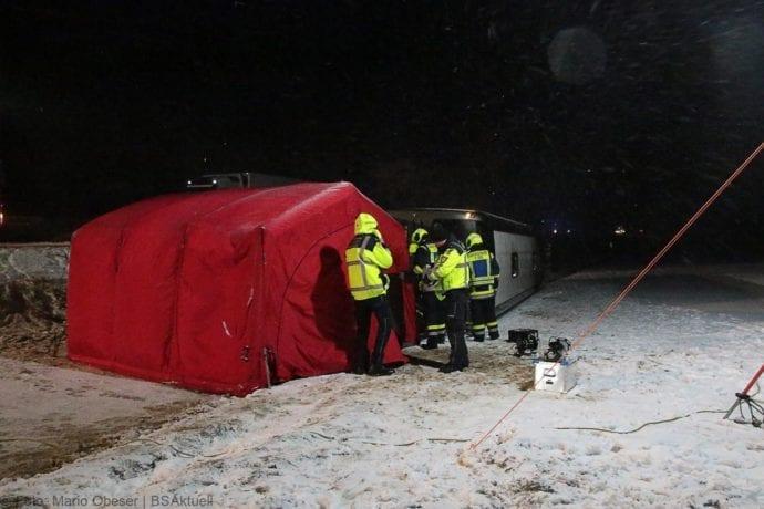 Unfall Reisebus B10 Kreuzung Tomerdingen 27022020 17
