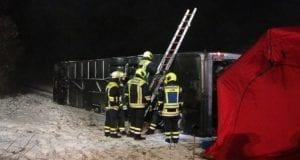 Unfall Reisebus B10 Kreuzung Tomerdingen 27022020 18