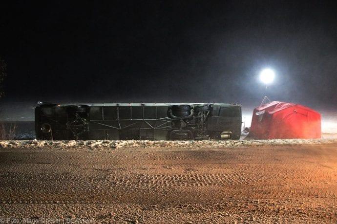 Unfall Reisebus B10 Kreuzung Tomerdingen 27022020 2