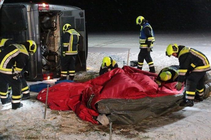 Unfall Reisebus B10 Kreuzung Tomerdingen 27022020 20