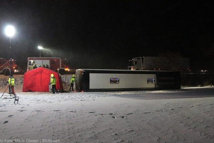 Unfall Reisebus B10 Kreuzung Tomerdingen 27022020 7